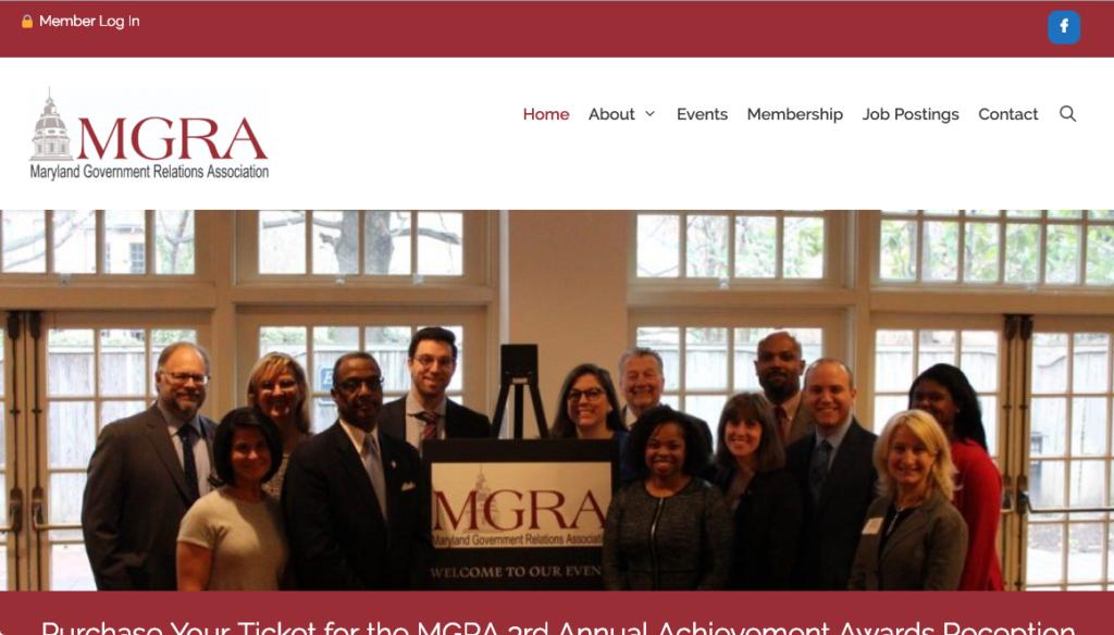 MGRA website screenshot