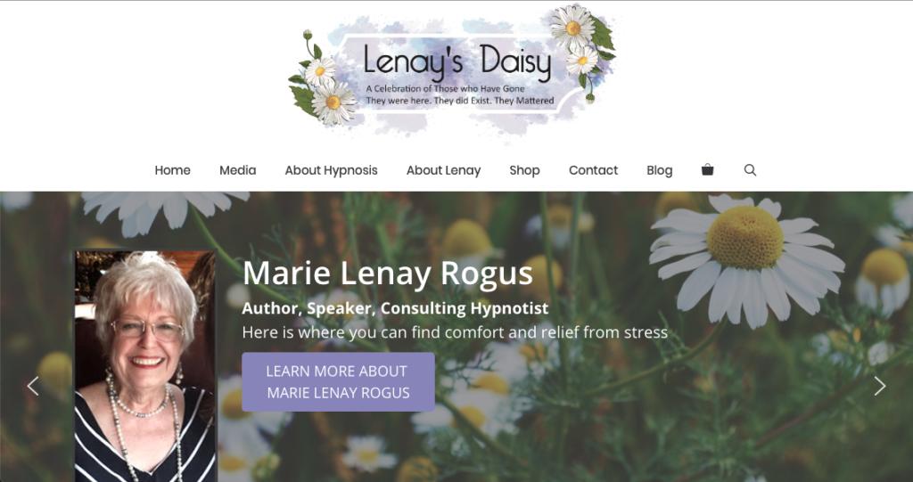 Lenay's Daisy website screenshot