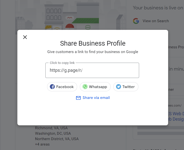 Share Your Google My Business Page Link for Customer Reviews