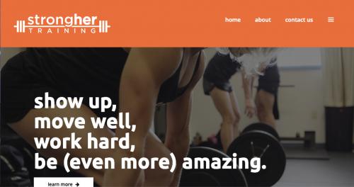 strongher training website screenshot
