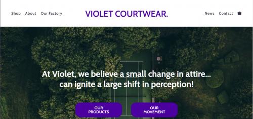 violet courtwear